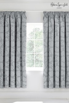 Helena Springfield Letty Floral Jacquard Lined Eyelet Curtains