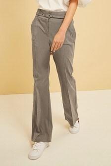 Расклешенные брюки с поясом