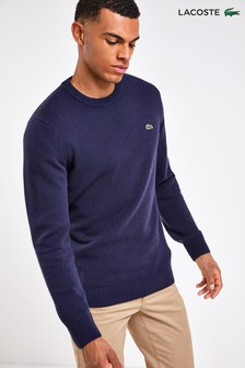 Lacoste® Lambswool Crew Neck Jumper