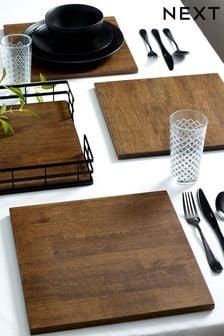 4 Wooden Bronx Placemats (210638) | $63