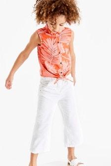 Блузка с завязанным спереди узлом (3-16 лет)