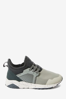 Colourblock Elastic Lace Trainers (Older)
