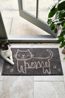 Cat Washable Large Doormat