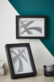 Set of 2 Black Gallery Frames