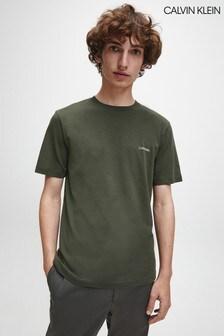 Calvin Klein Green Chest Logo T-Shirt