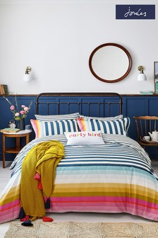 Joules Cambridge Gestreifter Bettbezug und Kissenbezug im Set