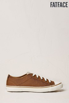 FatFace Brown Organic Lace-Up Trainers