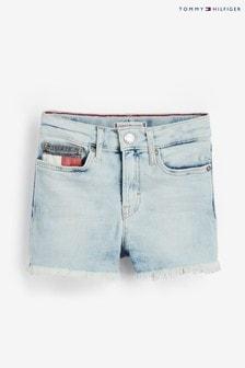 Tommy Hilfiger Blue Light Denim High Rise Shorts