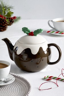 Christmas Pudding Teapot