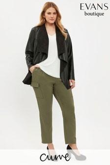 Evans Curve Khaki Utility Trousers
