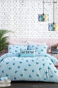 Skinnydip Blue Butterfly Duvet Cover And Pillowcase Set