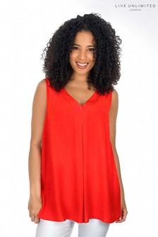 Live Unlimited Red Camisole With Neckline Detail
