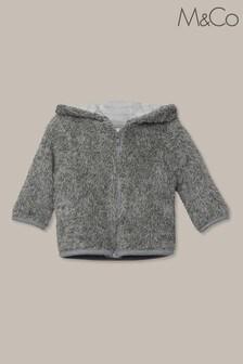 Szara kurtka polarowa M&Co ze sztucznym kożuszkiem