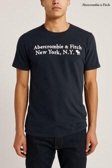 Abercrombie & Fitch Heritage T-Shirt, marineblau