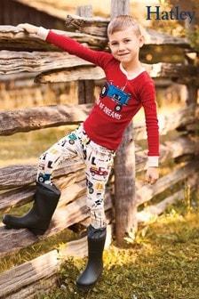 HatleyFarm Life Kinder-Pyjama mit Applikationen, Rot
