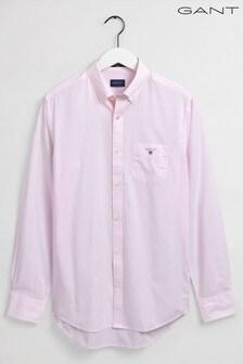 Рубашка в деловом стиле из тонкой хлопковой ткани классического кроя GANT
