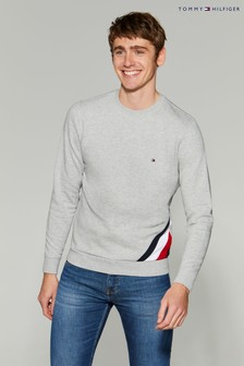 Sweat-shirt Tommy Hilfiger Global avec rayures