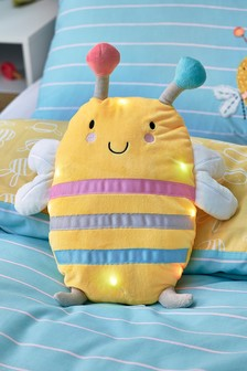 Light-Up Bee Happy Cushion