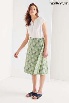 White Stuff Green Summer Reversible Wrap Skirt