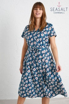 Seasalt Petite Blue Top Terrace Dress