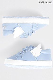 River Island Blue Wing Trainers