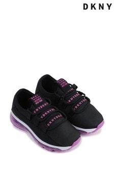 Черные кроссовки с логотипом DKNY