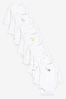 7 Pack Long Sleeve Bodysuits (0mths-3yrs) (212583) | $24 - $27