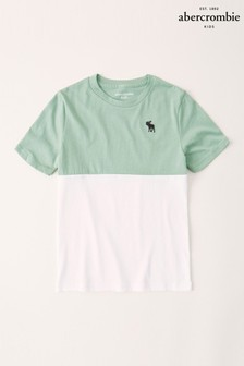 Abercrombie & Fitch Green Stripe T-Shirt