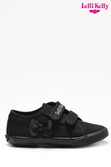 Lelli Kelly Black Velcro Trainers