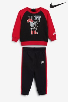 Nike Little Kids Infant Red JDI Crew and Jogger Set