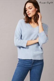 סוודר דגם Rylie Ripple בצבע כחול שלPhase Eight