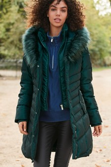 Faux Fur Padded Jacket