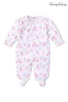 Kissy Kissy Pink Flamingo Babygrow