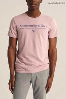 Abercrombie & Fitch T-Shirt mit Logo, rosa