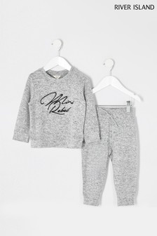 River Island Grey Mini Rebel Cosy Sweat Set