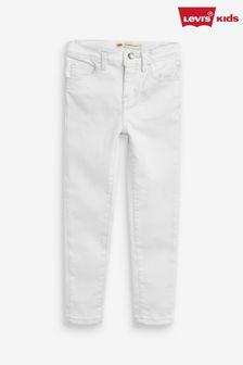 Levi's® 710™ 白色超級窄管牛仔褲