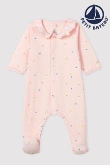Petit Bateau Schlafanzug mit Herzdruck, Pink
