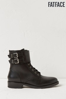 FatFace Black Larbert Lace Up Boots