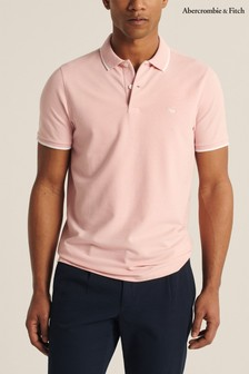 Abercrombie & Fitch Core Poloshirt, rosa