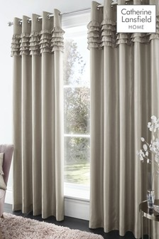 Catherine Lansfield Champagne Flamenco Eyelet Curtains