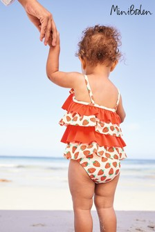 Mini Boden Red Frilly Swimsuit