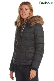 Barbour® Coastal Padded Fur Trim Dover Jacket