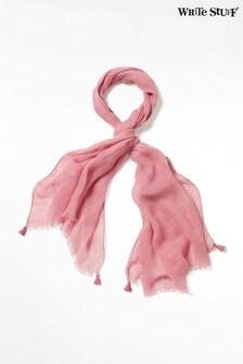 White Stuff Pink Savannah Linen Scarf