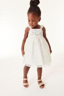 Сетчатое платье с декоративной отделкой (3 мес.-7 лет)