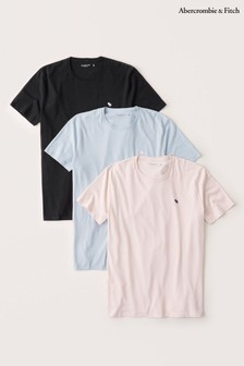 Abercrombie & Fitch Navy T-Shirts Three Pack
