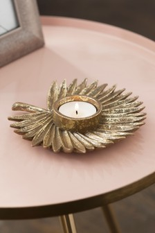 Palm Leaf Tealight Imetnik