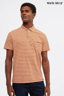 חולצתפולו אורגנית עם פסים דגםCalder בצבע כתום שלWhite Stuff