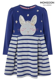 Monsoon Baby Elis Bunny Sweat Dress