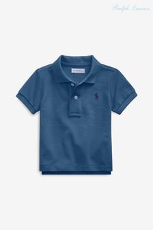 Синяя рубашка поло Ralph Lauren