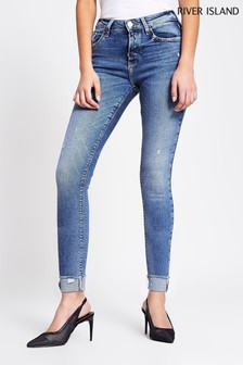 River Island Denim Medium Amelie Ripped Mars Jeans